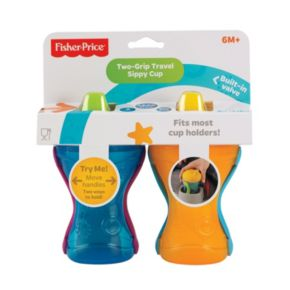 Fisher-Price 2-pk. Two-Grip Travel 8-oz. Sippy Cups