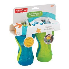 Fisher-Price 2-pk. Two-Grip Travel Straw Sippy Cups Boy by