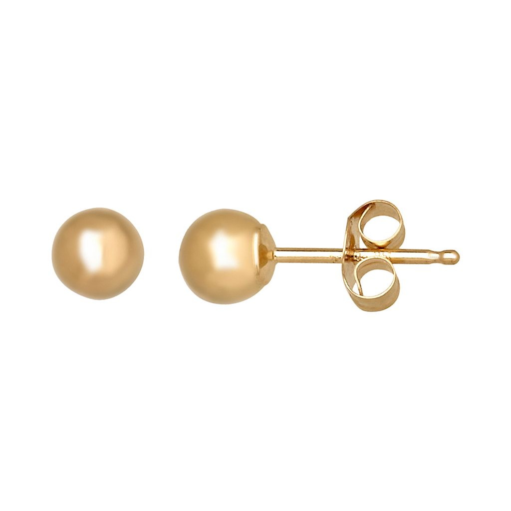 Everlasting Gold 14k Gold Ball Stud Earrings