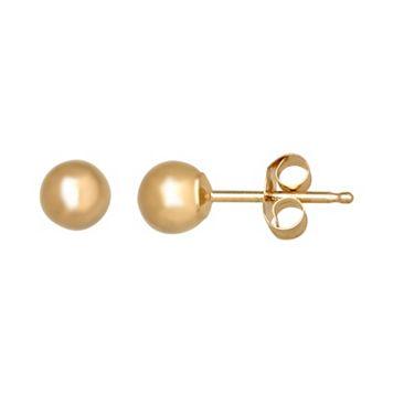 Everlasting Gold 14k Gold Ball Stud Earrings