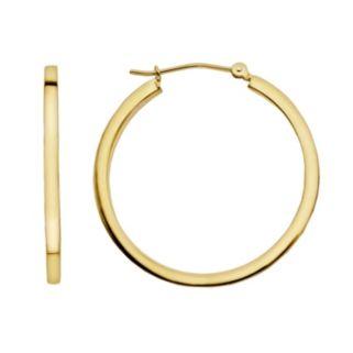 Everlasting Gold 14k Gold Tube Hoop Earrings