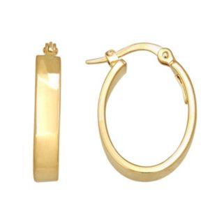 Everlasting Gold 14k Gold U-Hoop Earrings