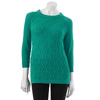 Women's Croft & Barrow® Solid Textured Sweater