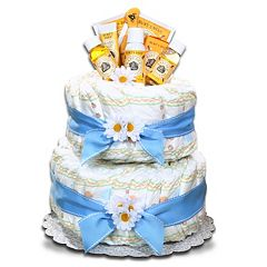 Burt's Bees Baby Organic Diaper Cake Gift Basket - Boy