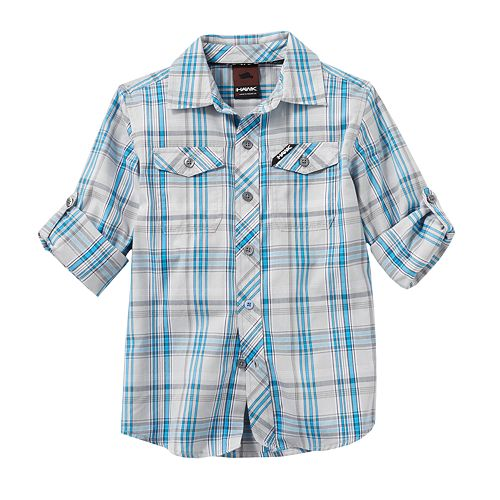 248c8644 Tony Hawk®Plaid Woven Hombre Shirt - Boys 4-7x