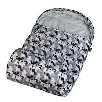 Wildkin Gray Camo Stay-Warm Sleeping Bag