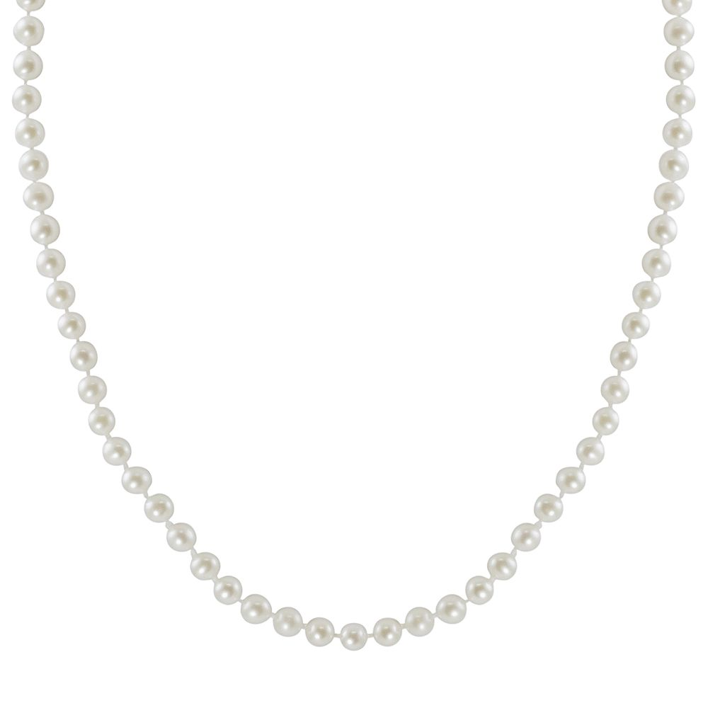 """10k Gold Freshwater Cultured Pearl Necklace - 16"""""""