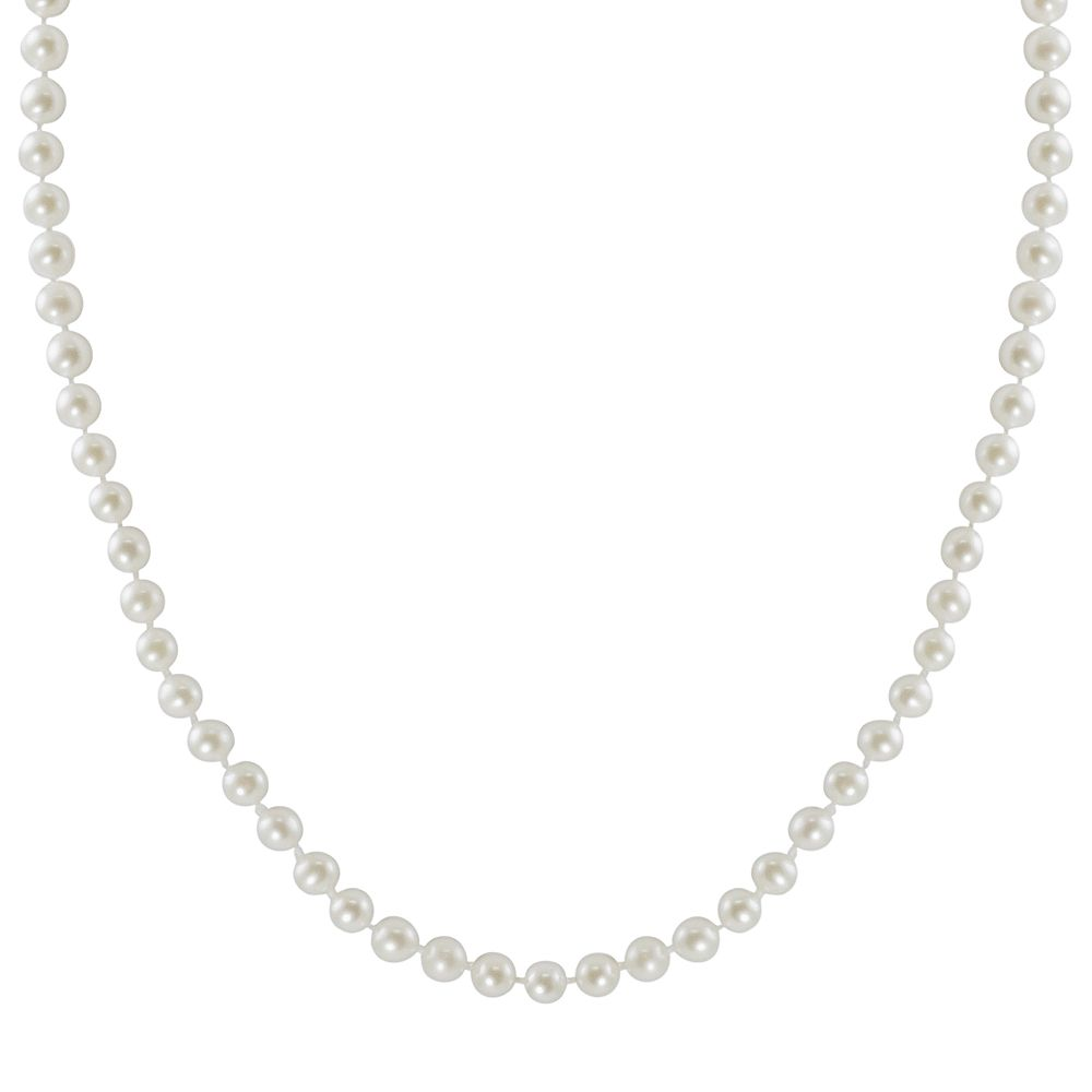 """10k Gold Freshwater Cultured Pearl Necklace - 18"""""""