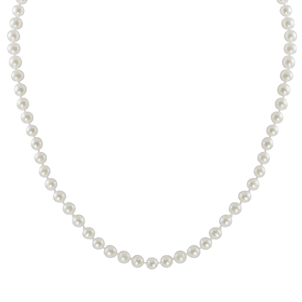 10k Gold Freshwater Cultured Pearl Necklace - 30
