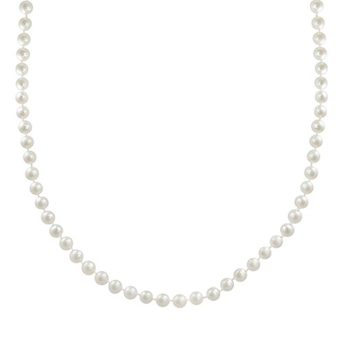 """10k Gold Freshwater Cultured Pearl Necklace - 23"""""""