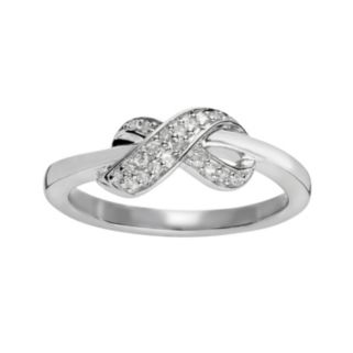 Sterling Silver 1/10-ct. T.W. Diamond Infinity Ring