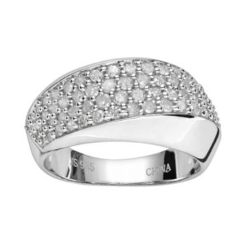 Sterling Silver 5/6-ct. T.W. Diamond Ring