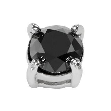 Stainless Steel 1/2-ct. T.W. Black Diamond Stud Earring