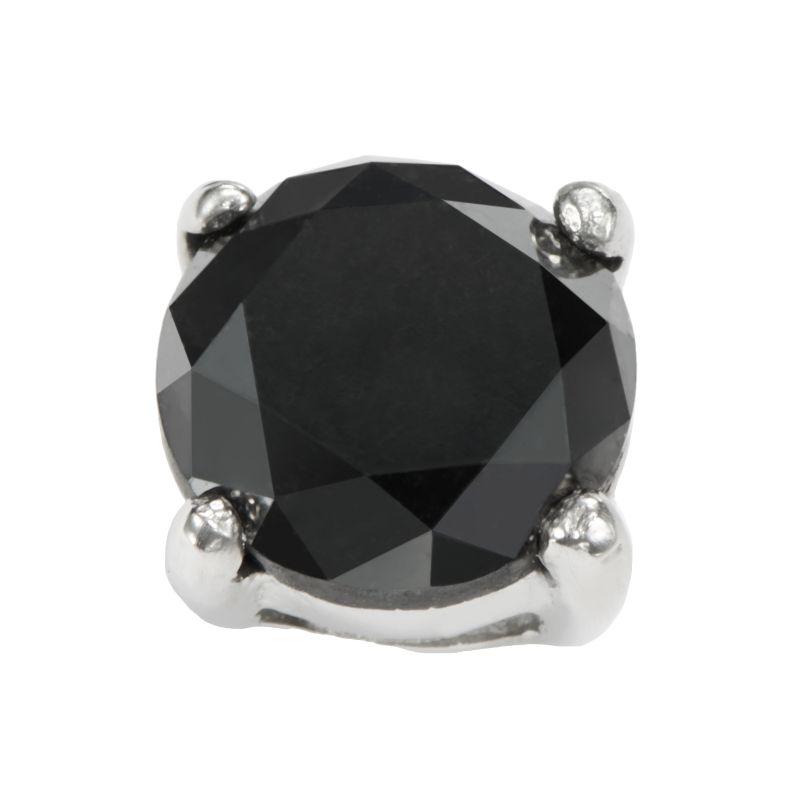 Stainless Steel 1-ct. T.W. Black Diamond Stud Earring, Women's