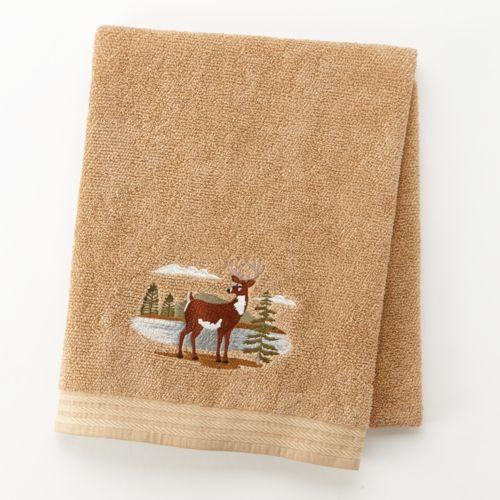Northwoods Embroidered Bath Towel