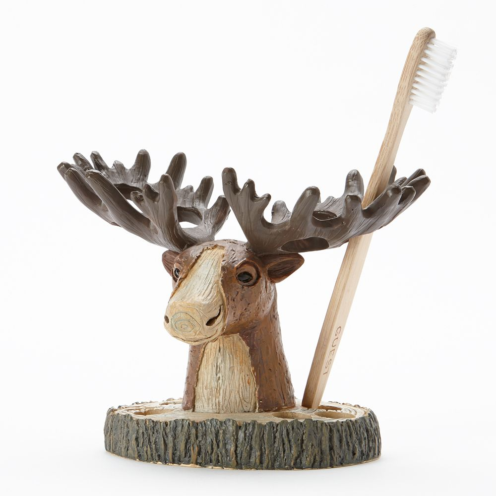 Moose Kitchen Decor Silhouette Lodge Bathroom Accessories Collection