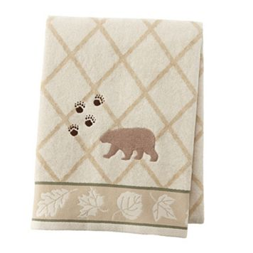 Silhouette Lodge Embroidered Bath Towel