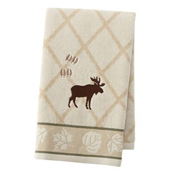 Silhouette Lodge Embroidered Hand Towel