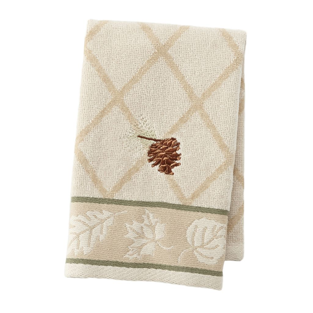 Silhouette Lodge Embroidered Fingertip Towel