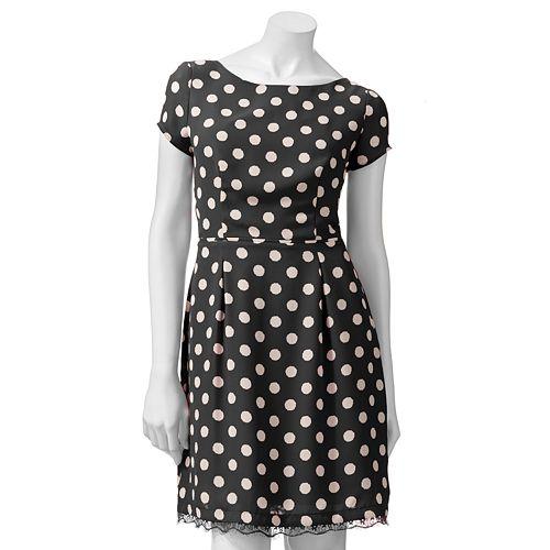 LC Lauren Conrad Polka-Dot Dress - Women's
