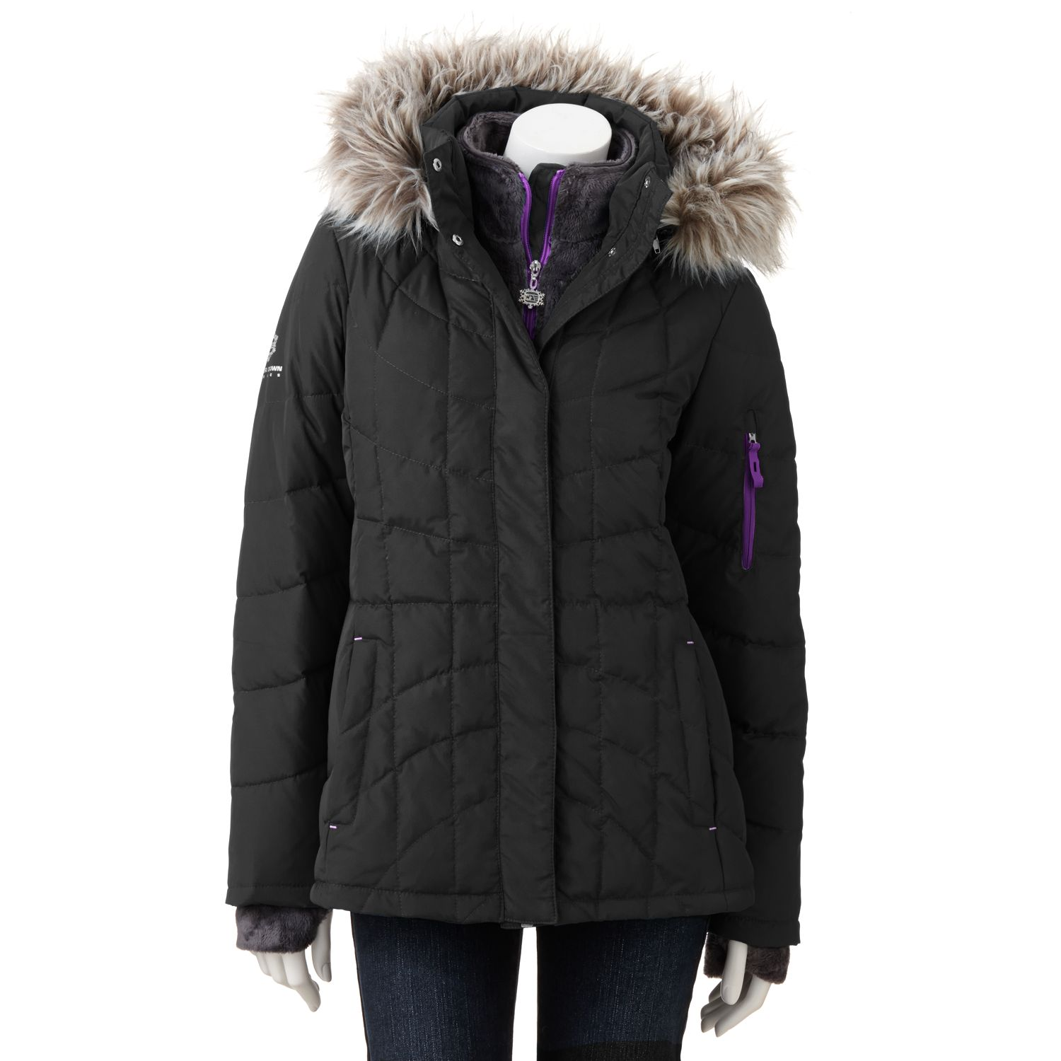 Free Country Hooded Down Puffer Jacket - Women's