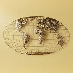 Anderson World Map Metal Wall Decor