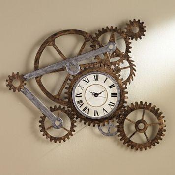 Industrial Gear Wall Clock