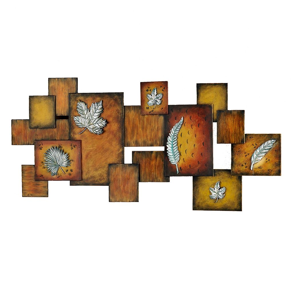 Lincoln Embossed Leaf Metal Wall Decor Panel