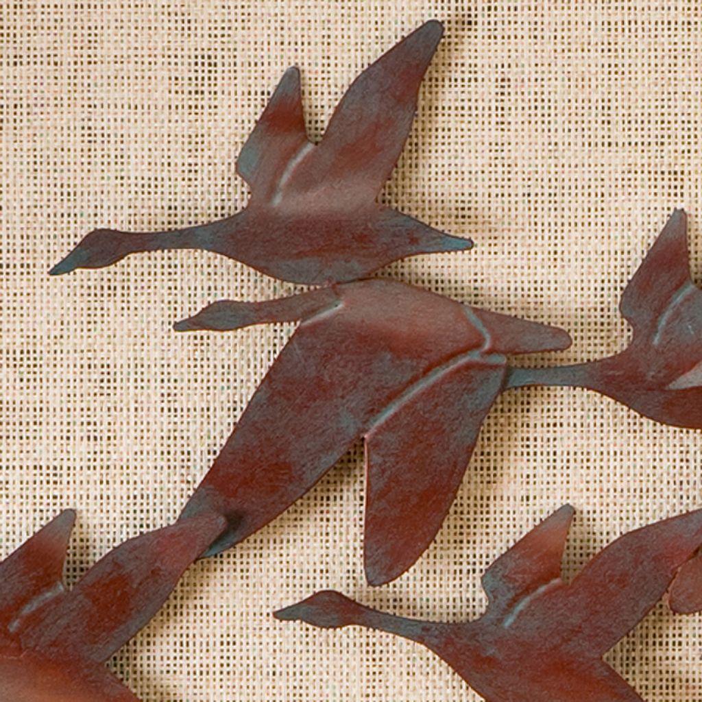Beckett Flock of Geese Metal Wall Decor