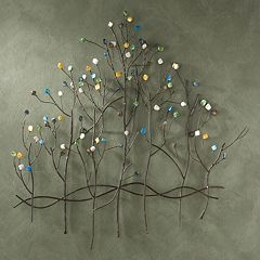 Presley Gemstone Trees Metal Wall Decor