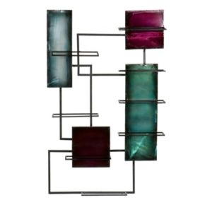 Geometric Wine Storage Wall Decor