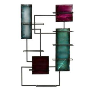 Geometric Wine Storage Wall Decor