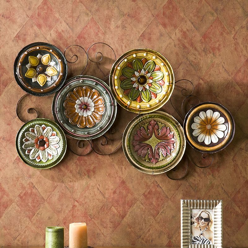 Kohls Metal Wall Decor : Scattered tuscan plates metal wall decor