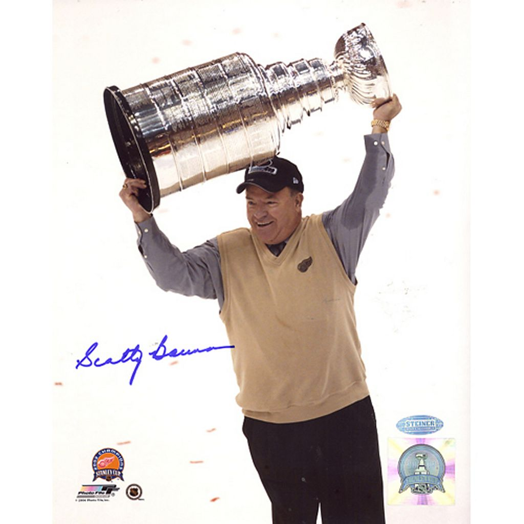 Steiner Sports Scotty Bowman with Stanley Cup Overhead 8'' x 10'' Signed Photo