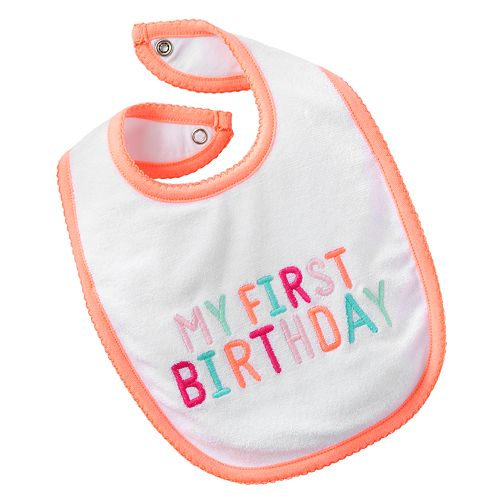 Carters My First Birthday Bib