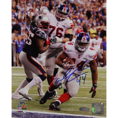 Steiner Sports Ahmad Bradshaw Super Bowl XLVI Fall Into Endzone Signed 16
