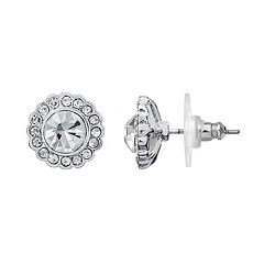 LC Lauren Conrad Simulated Crystal Halo Button Stud Earrings