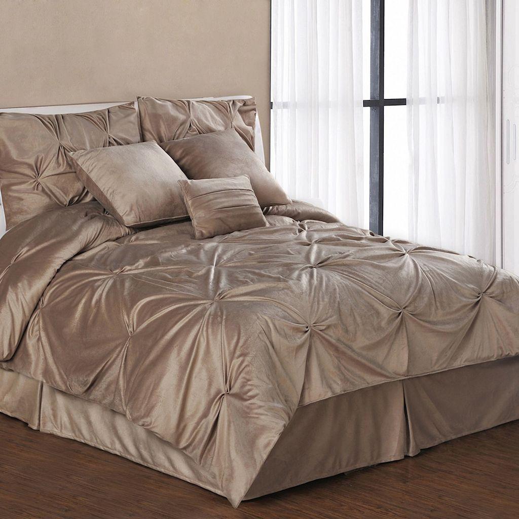 Pintuck Plush 7-pc. Comforter Set - Queen