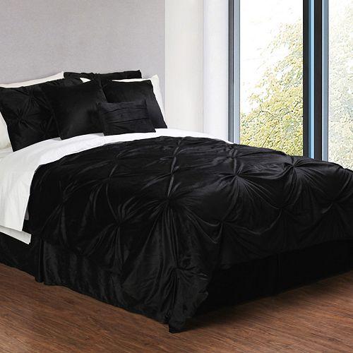 Pintuck Plush 6-pc. Comforter Set - Twin