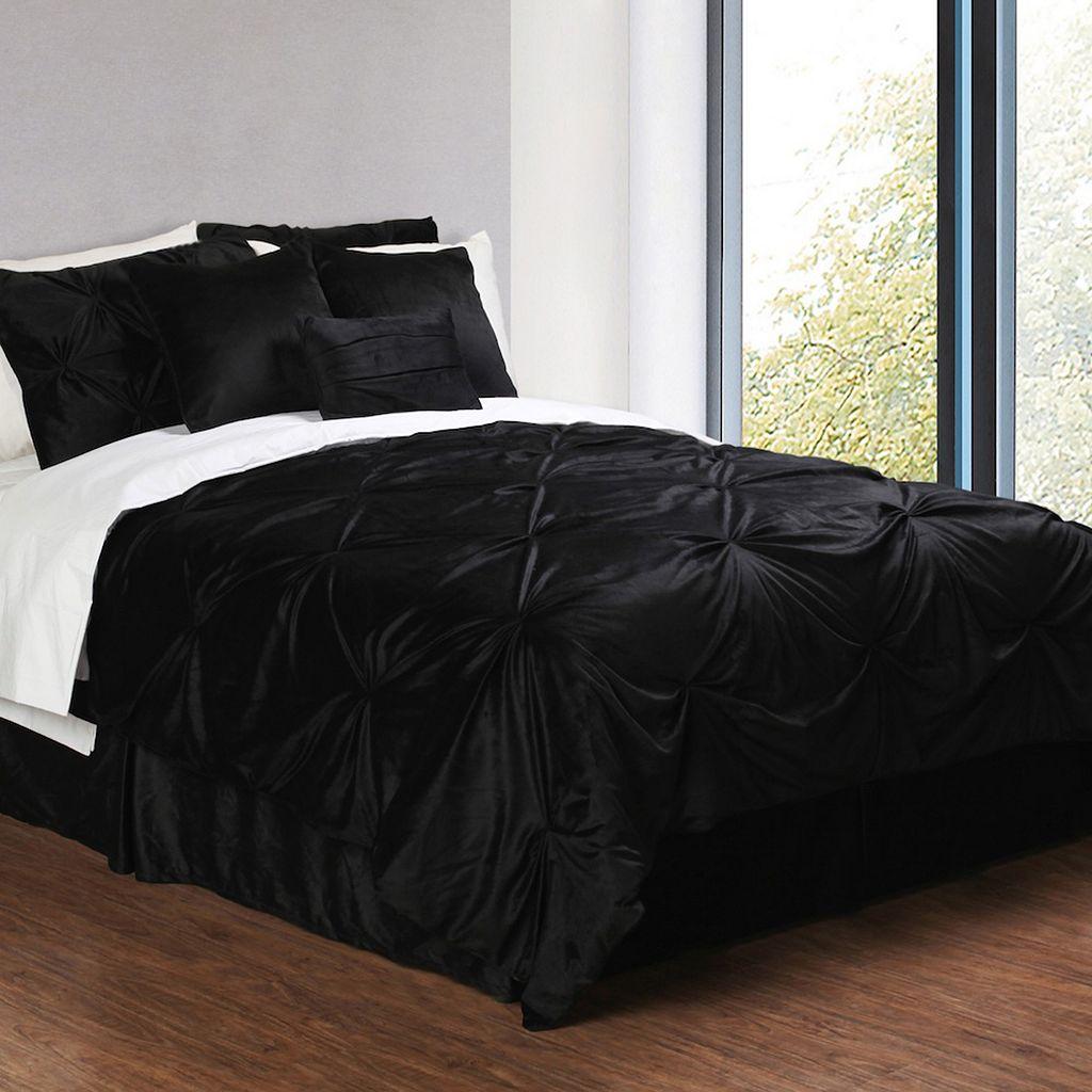 Pintuck Plush 7-pc. Comforter Set - Cal. King