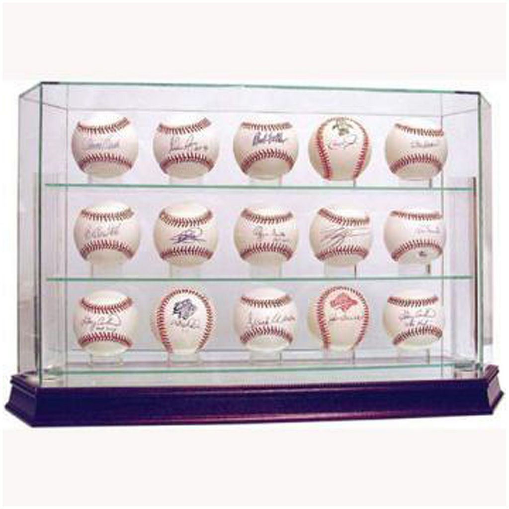 Steiner Sports 15-Ball Glass Baseball Display Case