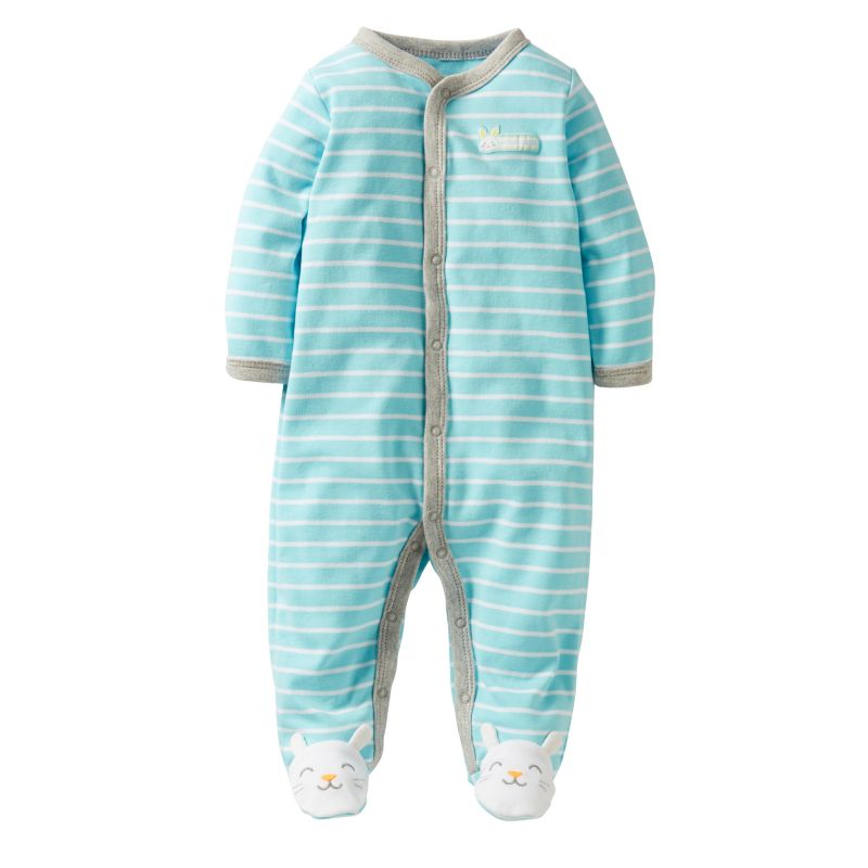 Carters Striped My First Easter Sleep & Play - Baby