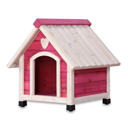 Pet Squeak Pink Arf Frame Dog House - Extra Small