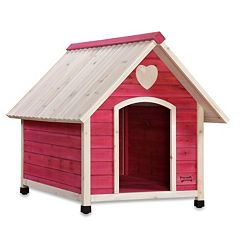 Pet Squeak Pink Arf Frame Dog House - Large