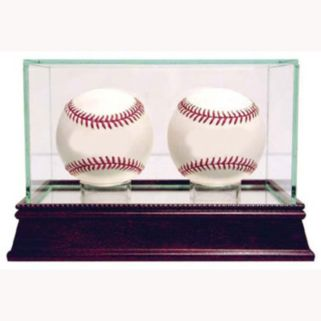 Steiner Sports Glass Double Baseball Display Case