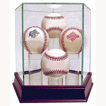 Steiner Sports Glass Quad Baseball Display Case