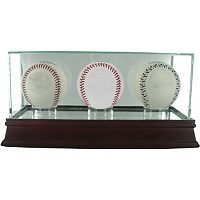Steiner Sports Triple Baseball Glass Display Case