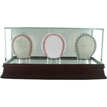 Steiner Sports Triple Baseball Glass Display Case