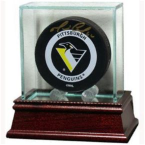 Steiner Sports Glass Hockey Puck Display Case