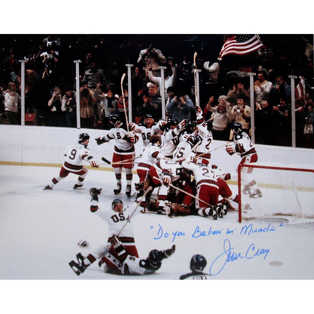 Steiner Sports Jim Craig 1980 USA Celebration 16'' x 20'' Signed Photo